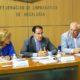 El presidente de la CEA y los secretarios generales de los sindicatos presentaron el manifiesto en la sede la Confederación