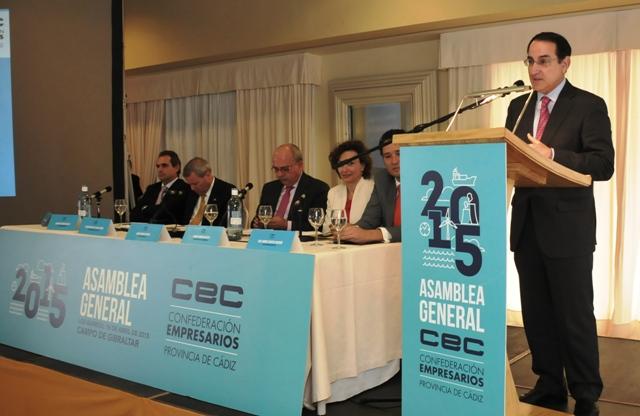 El presidente de CEA clausuró la Asamblea General de Confederación de Empresarios de la Provincia de Cádiz