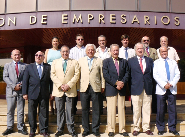 En la sede de la Confederación de Empresarios de Andalucía