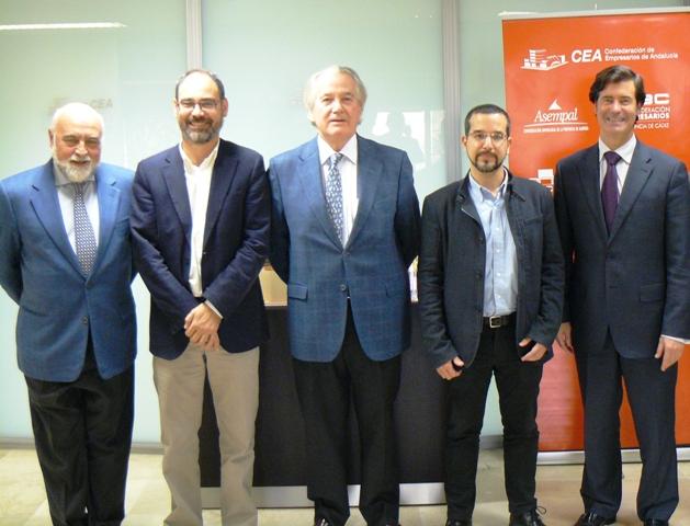 La organización empresarial andaluza ha traslado a este partido político la importancia del diálogo social y la participación institucional