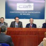 EL PRESIDENTE DE CEA Y CEM RECIBE AL MINISTRO DE ECONOMÍA EN LA SEDE DE LOS EMPRESARIOS MALAGUEÑOS