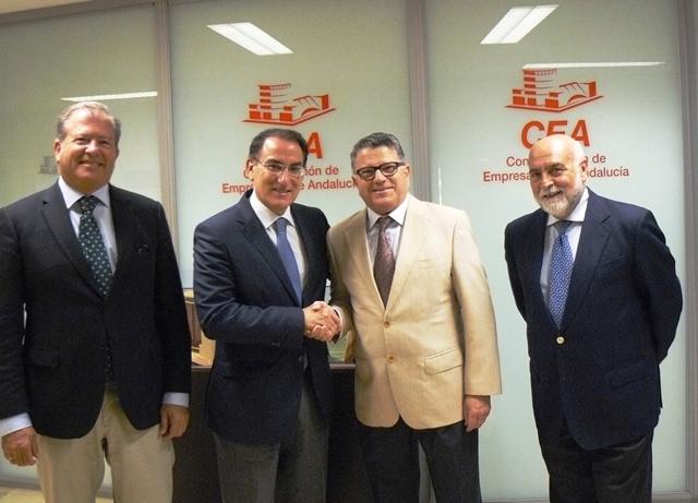 Fernando Rodríguez del Estal presentó a Javier González de Lara la nueva estructura de Eticom y un avance de los actos del 20 Aniversario de Eticom