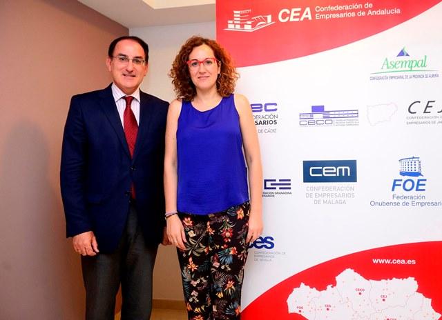 El Presidente de CEA se reúne con la Secretaria General de CCOO Andalucía y su nueva Ejecutiva