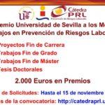 IV Premio Universidad de Sevilla a los Mejores Trabajos relacionados con la PRL. Solicitudes hasta el 15 de noviembre.