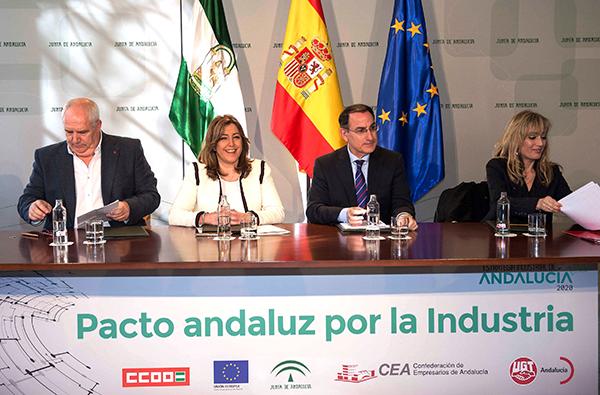 CEA, Junta de Andalucia y sindicatos firman el Pacto Andaluz por la Industria