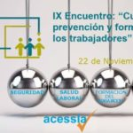 """IX Encuentro: """"Cultura de la PRL y formación de los trabajadores"""". Sevilla, 22 de Noviembre de 2018."""