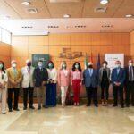 Presentación en CEA de la campaña de las empresas de CAEA que donan 140.000 kilos de alimentos a familias andaluzas vulnerables