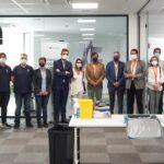 Asempal, Junta de Andalucía y Cosentino, alianza para el inicio de la vacunación en empresas de Almería