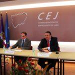 El presidente de CEA, Javier González de Lara, visita Jaén y se reúne con la Junta Directiva de la CEJ
